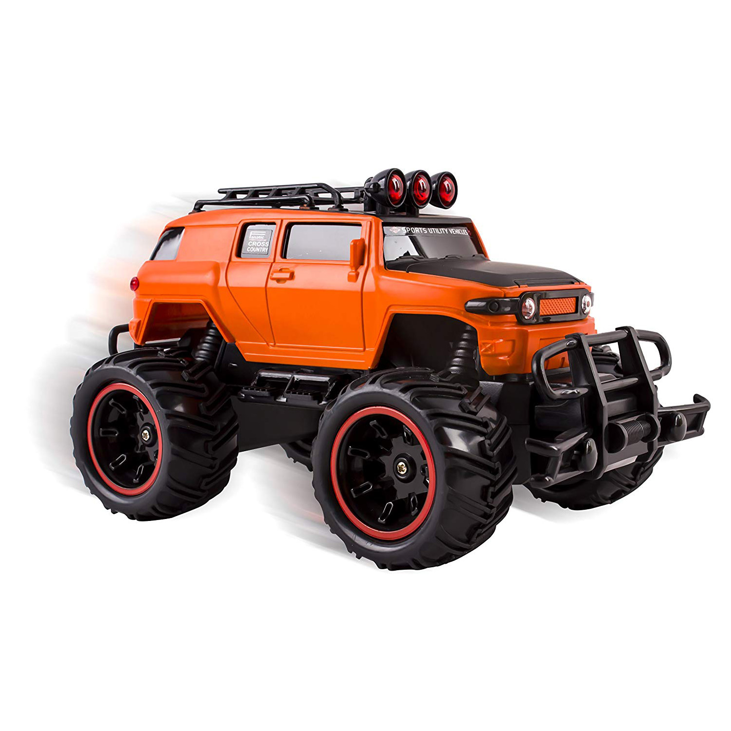 Rc Monster Truck Toy Remote Control Rtr Electric Vehicle Off Road High Speed Race Car 1 20 Scale Radio Controlled Orange Color Zoominos Online Toy Store Affordable Toys For Kids